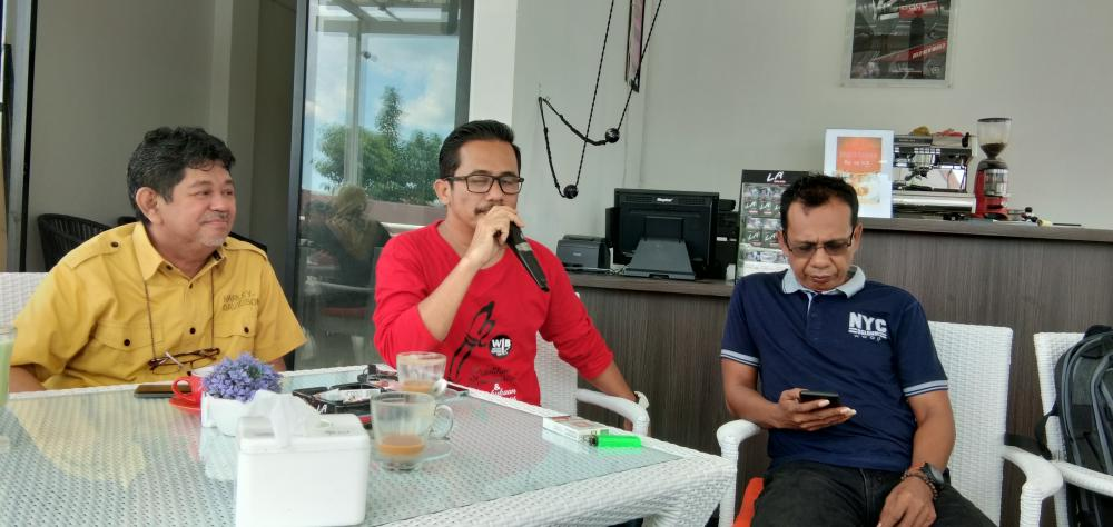 Peringati HPN 2019, KPU Bone Coffee Morning dengan Wartawan